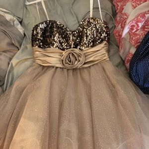 Prom dress! Rose Gold! Strapless!